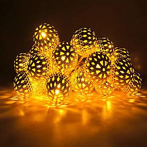 ieftine Becuri De Mașină LED-3M Fâșii de Iluminat 20 LED-uri Alb Cald / RGB / Alb Creative / Model nou / Petrecere Baterii alimentate