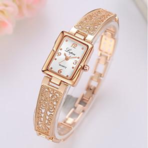 ราคาถูก การวัดและเครื่องชั่ง-สำหรับผู้หญิง นาฬิกาควอตส์ นาฬิกาสแควร์ นาฬิกาอิเล็กทรอนิกส์ (Quartz) รูปแบบชุดเป็นทางการ สไตล์ เงิน / ทอง / Rose Gold ดีไซน์มาใหม่ นาฬิกาใส่ลำลอง ระบบอนาล็อก ไม่เป็นทางการ แฟชั่น - / หนึ่งปี