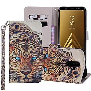 ieftine Kit-uri de Bijuterii-Maska Pentru Samsung Galaxy A5(2018) / A6 (2018) / A6+ (2018) Portofel / Titluar Card / Cu Stand Carcasă Telefon Animal Greu PU piele
