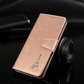 Недорогие Чехлы и кейсы для Galaxy S3-Кейс для Назначение Huawei Mate 10 pro / Mate 10 lite / Huawei Mate 20 lite Кошелек / Бумажник для карт / со стендом Чехол Однотонный Твердый Кожа PU