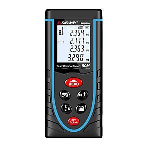 ieftine Instrument De Măsurare Nivel-sndway sw-m80a 80 m metru de măsurare a rezistenței laser cu ajutorul bateriei / handheld / ușor de utilizat pentru instalarea mobilei / pentru măsurarea inteligentă a locuinței / pentru măsurarea