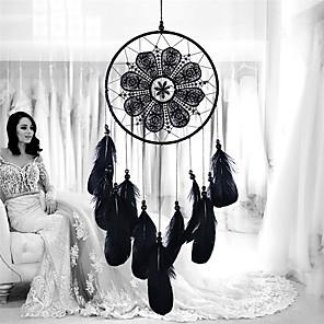 ieftine Decor de Perete-handmade captatorii de vis cu perete de pene agățat decorațiuni ornament decor ornament decor