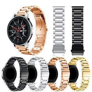 Недорогие Часы для Samsung-Ремешок для часов для Samsung Galaxy Watch 46 Samsung Galaxy Спортивный ремешок / Классическая застежка Металл / Нержавеющая сталь Повязка на запястье