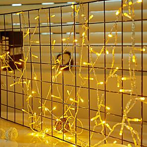 ieftine Pet Costume de Crăciun-10m Fâșii de Iluminat 100 LED-uri 1set Alb Rece / Roșu / Albastru Rezistent la apă / Creative / Petrecere 220-240 V / 110-120 V / IP44