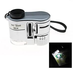 ieftine Lupe-60x a condus iluminat buzunar portabil mini microscop bijuterie de evaluare lupta pentru electronice de reparații loupe lupă