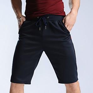 povoljno Muški satovi-Muškarci Sportski Kratke hlače Hlače - Jednobojni Plava Crn Sive boje XXL XXXL XXXXL