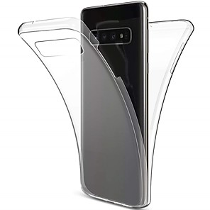 Недорогие Чехлы и кейсы для Galaxy A7-Кейс для Назначение SSamsung Galaxy S9 / S9 Plus / S8 Plus Защита от удара / Ультратонкий / Прозрачный Чехол Однотонный Мягкий ТПУ