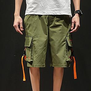 povoljno Muški satovi-Muškarci Sportski Veći konfekcijski brojevi Kratke hlače Hlače - Jednobojni Crn Vojska Green XXXL XXXXL XXXXXL