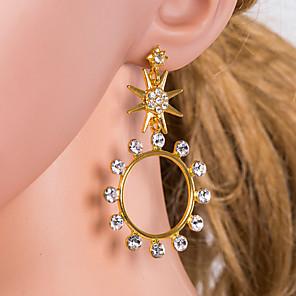 ieftine Cercei-Pentru femei Multicolor Cercei Picătură Geometric Αστέρι European Diamante Artificiale cercei Bijuterii Auriu / Argintiu Pentru Zilnic 1 Pair