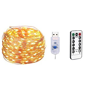 ieftine Becuri LED Glob-5m Bare De Becuri LED Rigide 50 LED-uri SMD 0603 1 13 Comenzi de la distanță 1set Alb Cald / Alb / Multicolor Rezistent la apă / USB / Decorativ 5 V / Alimentat USB