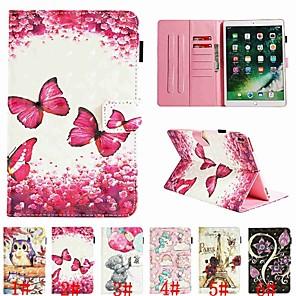 abordables Pochettes / Coques d'iPad-Coque Pour Apple iPad New Air (2019) / iPad Pro 10.5 Porte Carte / Clapet / Motif Coque Intégrale Papillon / Animal / Bande dessinée Dur faux cuir