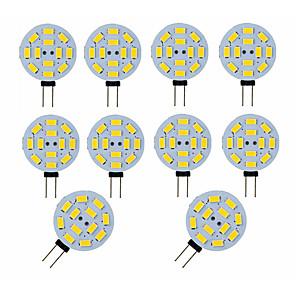 ieftine LED-uri-10pcs 3 W Becuri LED Bi-pin 300 lm G4 12 LED-uri de margele SMD 5730 Decorativ Adorabil Alb Cald Alb Rece 12 V