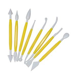 ieftine Ustensile & Gadget-uri de Copt-8 buc / lot tort fondant patiserie cioplire tăietor 16 tipare flori zahăr artizanat instrumente de modelare tort fondant instrument de decorare tort