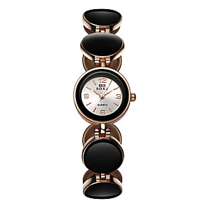 ieftine Cuarț ceasuri-Pentru femei Quartz Quartz Stil Oficial Oțel inoxidabil Negru / Alb / Roșu Ceas Casual Analog Modă Elegant - Negru Roșu-aprins Roz Îmbujorat Un an Durată de Viaţă Baterie