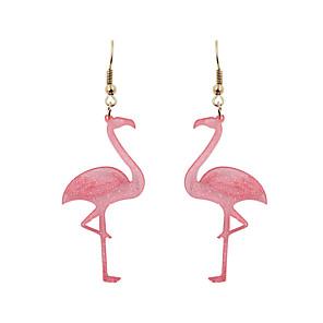 hesapli Küpeler-Kadın's Damla Küpeler Küpe Sallantılı Küpe Fantezi Flamingo Kişiselleştirilmiş Sallantılı Stil Temel Tatil Tatlı Küpeler Mücevher Pembe Uyumluluk Hediye Günlük Cadde Tatil Festival 1 çift