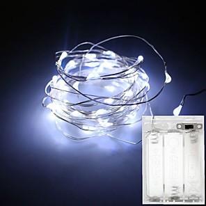 ieftine Spoturi LED-1pc 3m 30d 4.5v 3aa baterii alimentat cu apă decorare a condus fir de cupru lumini șir pentru Crăciun festival nunta petrecere