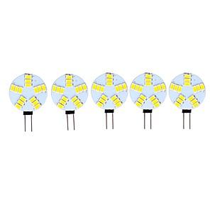 ieftine LED-uri-5pcs 3 W Becuri LED Bi-pin 290 lm G4 15 LED-uri de margele SMD 5730 Decorativ Alb Cald Alb Rece 12 V