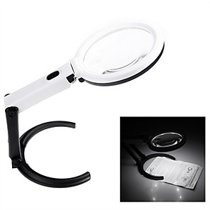 ieftine Lupe-portabil 10 led lumina lupa lupa cu masa de lentile lumina tip de birou lampa de buzunar pliabil loupe 2.5x 8x