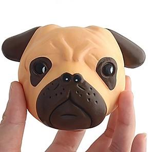 ieftine Jucării Novelty-pufoasă Squishies Squishy Toy Jucării din Cauciuc Jumbo Squishies Shiba Inu Dog Față Stres și anxietate relief Încântător Super moale Creștere lentă / Pentru Pentru copii Copilului Adulți Băieți Fete