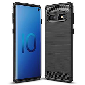 Недорогие Чехол Samsung-Кейс для Назначение SSamsung Galaxy Galaxy S10 / Galaxy S10 Plus / Galaxy S10 E Матовое Кейс на заднюю панель Однотонный Мягкий ТПУ