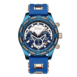 povoljno LED noćna rasvjeta-Muškarci Nehrđajući čelik Švicarski Kvarc Nehrđajući čelik Svijetlo plava 50 m Kronograf Kreativan New Design Analog Outdoor Moda - Plava Dvije godine Baterija Život