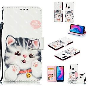 preiswerte Hüllen / Cover für Xiaomi-Hülle Für Xiaomi Xiaomi Redmi Note 6 / Xiaomi Redmi 6 Pro / Redmi 6A Kreditkartenfächer / Muster Ganzkörper-Gehäuse Katze Hart PU-Leder