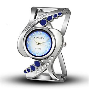 hesapli Bileklik Saatler-Kadın's Bilezik Saat Günlük Moda Gümüş Alaşım Çince Quartz Beyaz Siyah Havuz Yaratıcı Gündelik Saatler Analog