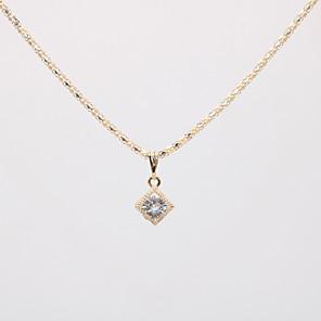 ieftine Decorațiuni Mobil-Pentru femei Coliere cu Pandativ Lănțișor Charm Colier Clasic Mini Plin de graţie Design Unic La modă Modă Argilă Placat Auriu Crom Auriu Argintiu 42 cm Coliere Bijuterii 1 buc Pentru Nuntă Cadou