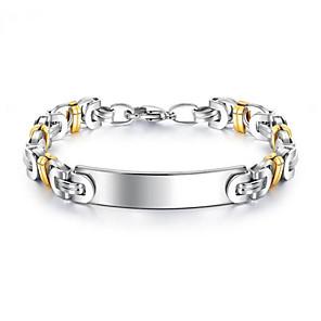 ieftine Brățări-Bărbați Brățară Geometric Norocos Stilat Oțel titan Bijuterii brățară Argintiu Pentru Cadou Zilnic