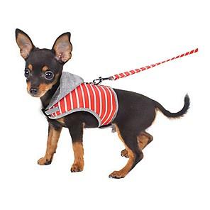 ieftine Câini Gulere, hamuri și Curelușe-Pisici Hamuri Portabil Mini Mers Mată Îmbrăcăminte Oxford Material Textil Portocaliu Roz un Animalut
