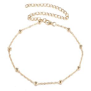ieftine Colier la Modă-Pentru femei Coliere Choker Lant de rozariu Simplu European La modă Casual / sportiv Crom Auriu Argintiu 28 cm Coliere Bijuterii 1 buc Pentru Zilnic Stradă Concediu