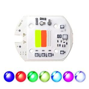 ieftine LED-uri-1pc 8.2cm 30w cob a condus chip inteligent ic 220v nu necesită sofer integrat sursa de lumină rgb pentru diy lumina reflectoarelor inundații lumină scenă iluminat peisaj