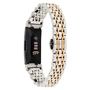 Недорогие Ремешки для спортивных часов-Ремешок для часов для Fitbit Inspire HR / Fitbit Inspire Fitbit Бабочка Пряжка Металл / Нержавеющая сталь Повязка на запястье