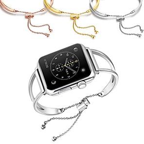 Недорогие Ремешки для Apple Watch-Ремешок для часов для Серия Apple Watch 5/4/3/2/1 Apple Дизайн украшения Нержавеющая сталь Повязка на запястье