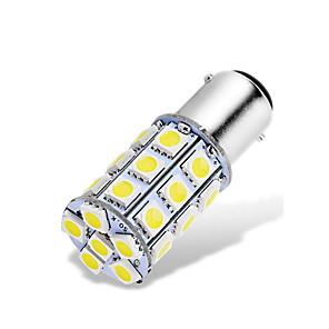 ieftine Car Signal Lights-1pcs ba15d 1142 1076 1176 becuri auto led 12-24v 5050 27 smd alb pentru spate luminile de mers înapoi luminile de frână spate luminile