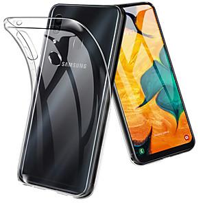 Недорогие Чехлы и кейсы для Galaxy А-Кейс для Назначение SSamsung Galaxy A6 (2018) / A6+ (2018) / Galaxy A7(2018) Защита от удара / Ультратонкий / Прозрачный Кейс на заднюю панель Однотонный Мягкий ТПУ