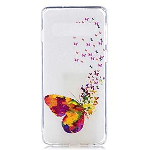 economico Custodie / cover per Galaxy serie S-Custodia Per Samsung Galaxy S9 / S9 Plus / S8 Plus Transparente / Fantasia / disegno Per retro Farfalla Morbido TPU