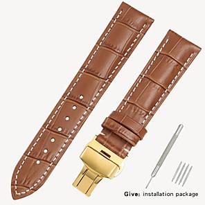 ieftine Accesorii Ceasuri-înlocuitor tissot 1853 ceas de piele pentru bărbați cu incuietoare din piele pentru femei casio longines brățară accesorii 16/18/19/20 / 21mm