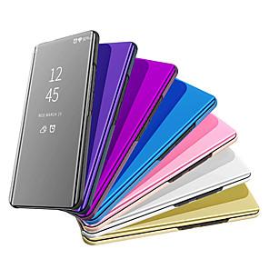 povoljno Maske/futrole za Huawei-Θήκη Za Huawei Huawei P20 / Huawei P20 Pro / Huawei P20 lite Pozlata / Zrcalo Korice Jednobojni Tvrdo PU koža