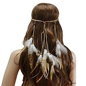 ieftine Bijuterii de Păr-Pentru femei Cordeluțe Pentru Festival Cordon Pană Maro 1 buc