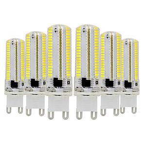 ieftine Becuri LED Bi-pin-6pcs 7 W Becuri LED Bi-pin 600-700 lm G9 T 152 LED-uri de margele SMD 3014 Intensitate Luminoasă Reglabilă Alb Cald Alb Rece 220-240 V 110-130 V