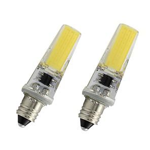ieftine Becuri LED Lumânare-2pcs 3w e11 bec condus 110v 220v 450lm cub lampă dimmable alb alb cald pentru lumina de casă lampă de cristal de iluminat