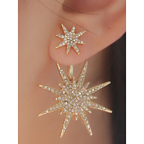 ieftine Cercei-Pentru femei Argintiu Auriu Zirconiu Cubic Cercei Marchiză Floare Fulg Declarație Lux Modă Elegant Supradimensionat Diamante Artificiale cercei Bijuterii Alb și Argintiu / Auriu Pentru Petrecere