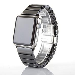 Недорогие Ремешки для Apple Watch-Ремешок для часов для Серия Apple Watch 5/4/3/2/1 Apple Бабочка Пряжка Керамика Повязка на запястье