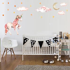 ieftine Acțibilde de Decorațiuni-Unicornul 1pc aderă la perete pentru a decora autocolantele prințesei de perete