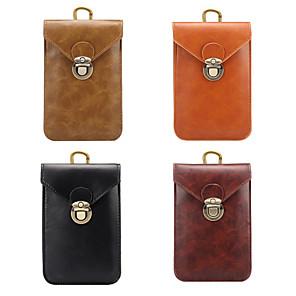 Недорогие Чехол Samsung-5,7-дюймовый чехол для универсального держателя карты сумка / поясная сумка из сплошной кожи