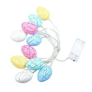 ieftine Becuri LED Glob-breton 3m 20 condus baterii alimentat burst de ou lumina șir interior drăguț decorative cald alb (fără baterie)
