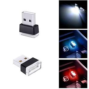 ieftine Lumini Nocturne LED-1pc usb lumina de noapte rosu / albastru / violet / alb condus masina de interior atmosfera lumina picioare lampa de iluminare decorare lumina lampă de noapte pentru putere bancă 5v