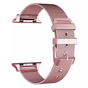 Недорогие Ремешки для Apple Watch-Ремешок для часов для Серия Apple Watch 5/4/3/2/1 Apple Классическая застежка Нержавеющая сталь Повязка на запястье