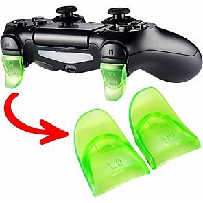 ieftine Accesorii PS4-accesorii de joc 1 pereche / set l2 r2 buton de expansiune buton de expansiune pentru controlerul jocului PS4 piese de schimb
